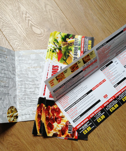 A4 half fold and dl leaflets