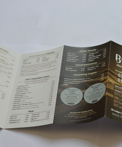 A4+ takeaway menu printing-design