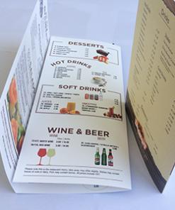 Tear proof plastic menu