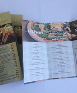 Offset menu printing