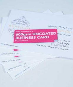600gsm luxury business card printing London